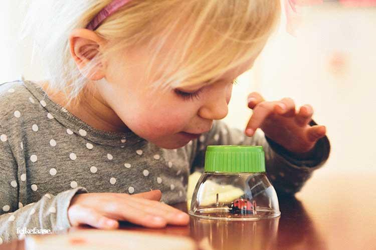 Bedrijfsfotografie, kind speelt met vergrootglas in Het Groene Huis Amersfoort; foto gemaakt door fotograaf Feike Faase